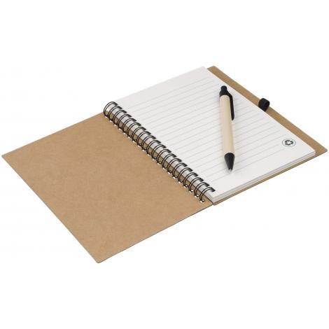 Bloc-notes publicitaire avec stylo en papier recyclé