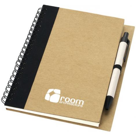Bloc-notes avec stylo en papier recyclé publicitaire