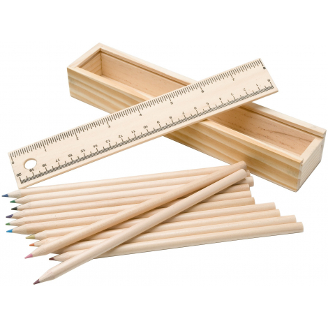 Set de 12 crayons de couleur publicitaire