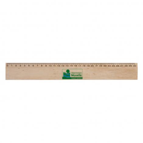 Règle en bois de Hêtre - 20 ou 30 cm