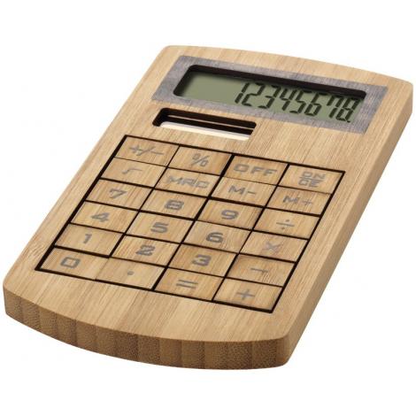 Calculatrice publicitaire en bambou - Eugène