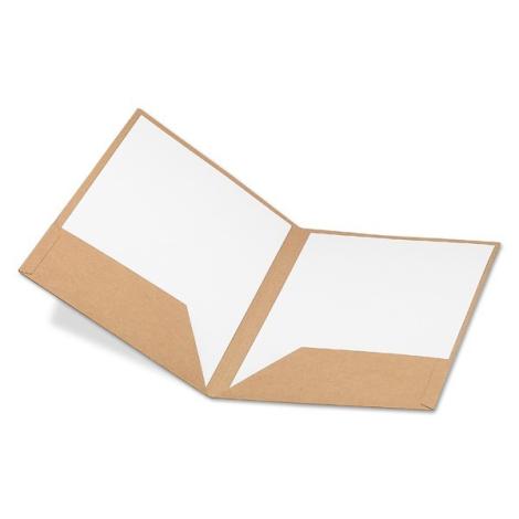 Porte document publicitaire A4 en carton recyclé