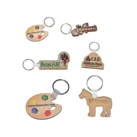 Porte-clés publicitaire en bois sur-mesure
