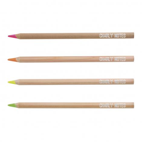 Crayon bois publicitaire Fluo Prestige - 17,6 cm