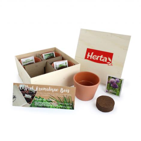 Kit de plantation - coffret aromatique bois