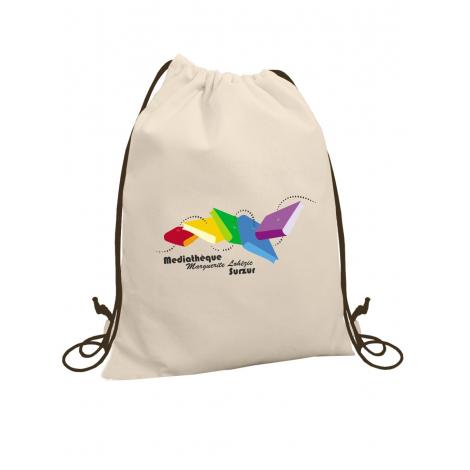 Sac à dos gym bag en coton 160 grs - GAYA