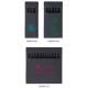 Etui carton noir de 4 - 6 - 12 crayons de couleurs black - 8.7 cm