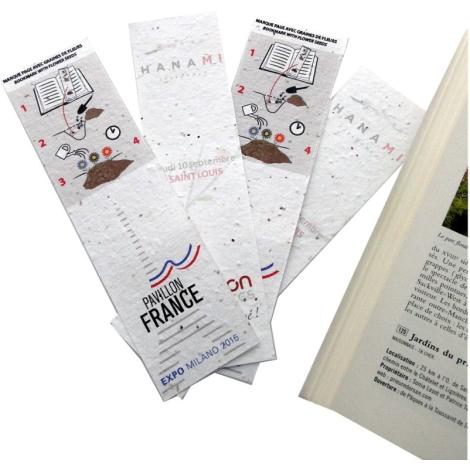 Marque-page publicitaire - tapis de semis