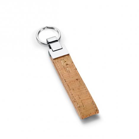 Porte-clés en liège et métal