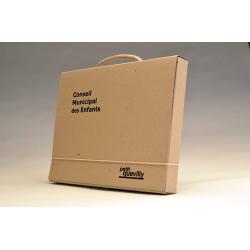 Valisette en carton recyclé - Elastique droit