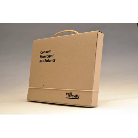 Valisette en carton recyclé - Brut Naturel