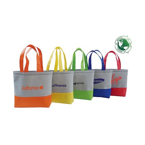 Sac cabas publicitaire recyclé tissu molletonné - URBAN BAG