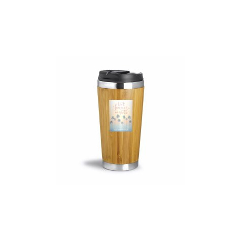 Mug publicitaire isotherme 410 ml - WOOD YOU