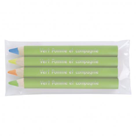 4 surligneurs fluo VERNIS PANTONE - 8,7 cm ou 17,6 cm