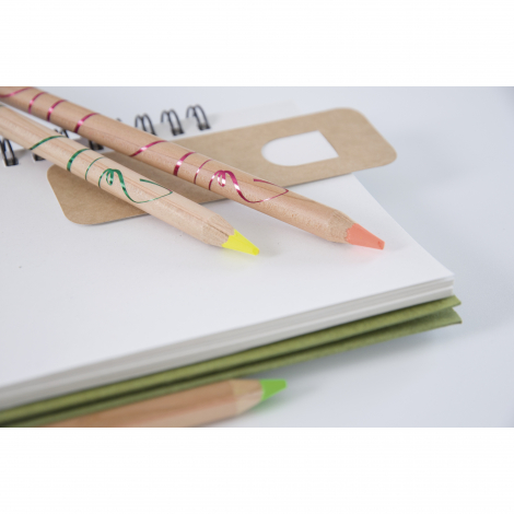 Crayon bois fluo prestige naturel - 8,7 ou 17,6 cm