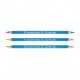 Crayon surligneur fluo individuel bi-coul - 17,6 cm