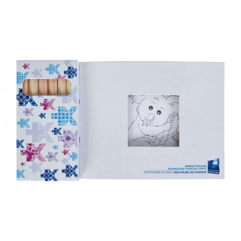 Kits de coloriage de 6 crayons de couleur hexagonaux - 8,7 cm
