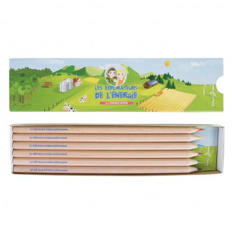 Etui fourreau 6 ou 12 crayons de couleur - 17,6 cm