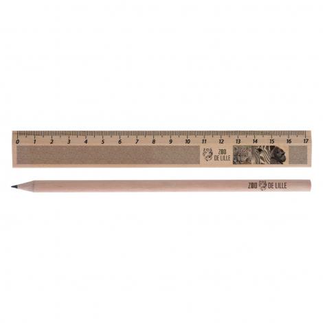Kit Eco règle avec crayon de papier - 17,6 cm