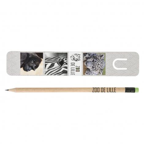 Kit publicitaire marque-page et crayon Pantone - 17,6 cm