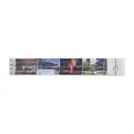 Set de 4 crayons de couleur quadri - 17,6 cm