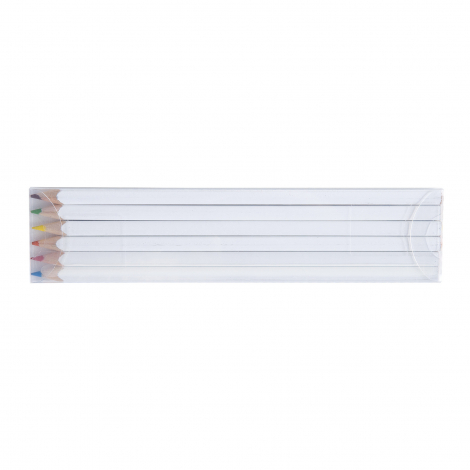 Set de 6 ou 12 crayons de couleur écolo - 17,6 cm