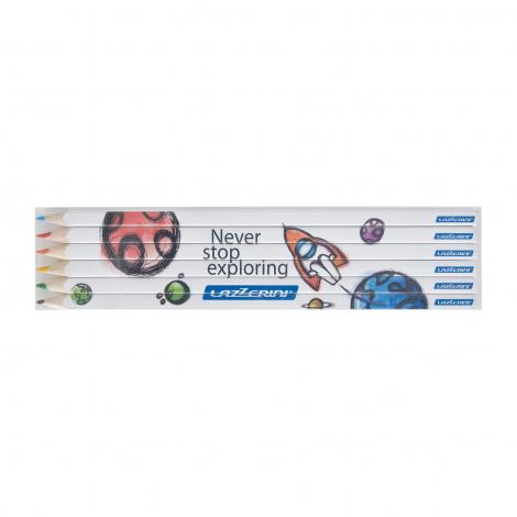 Set de 6 crayons de couleur quadri - 17,6 cm