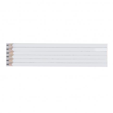 Set de 6 crayons quadri mine graphite - 17,6 cm