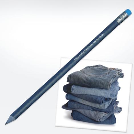Crayon publicitaire en jeans recyclé