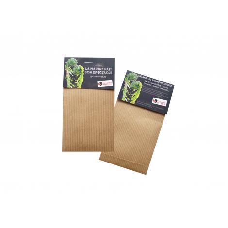 Sachet de graines Kraft brun 70 x 125 mm