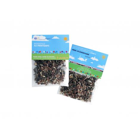 Sachet de graines publicitaire 6 x 8 cm - Transparent