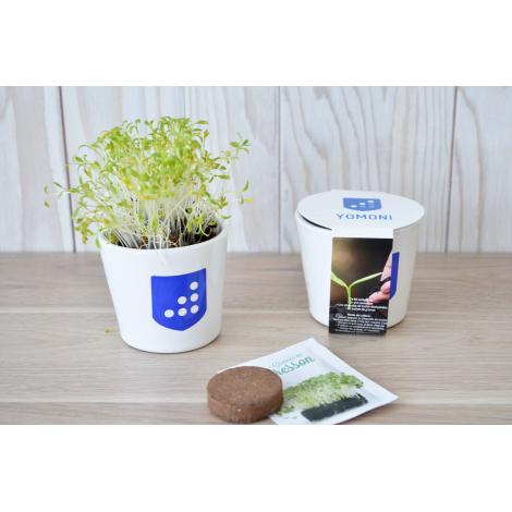 Kit de plantation publicitaire - Pot en céramique