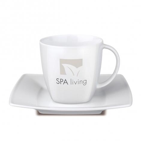 Café set avec tasse et soucoupe publicitaire 200 ml - Maxim