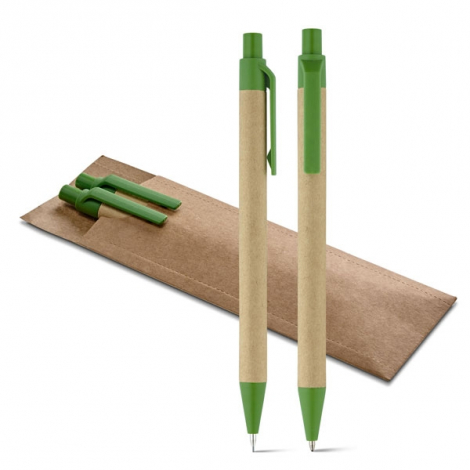 Set stylo à bille et portemine Leaf