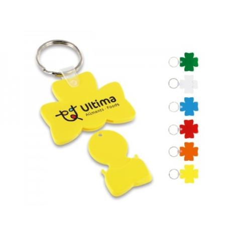 Porte clés jeton trèfle