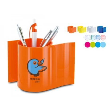 Pot à crayons en plastique