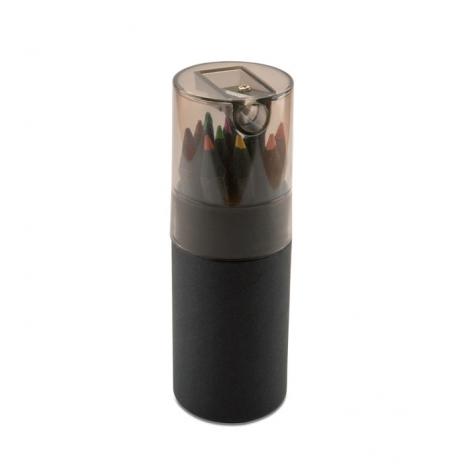 Tube noir de 12 crayons de couleur Blocky