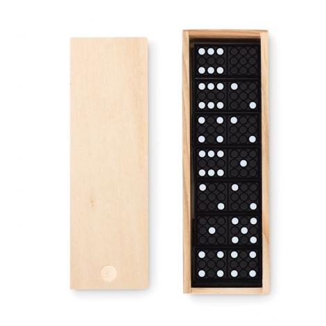 Boîte en bois avec domino à personnaliser