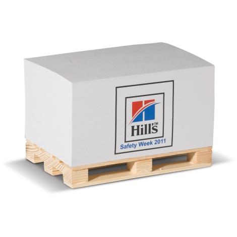 Cube papier sur palette personnalisée - 12 x 8 cm