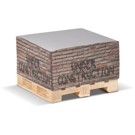 Cube de papier sur palette personnalisable -10 x 10 cm