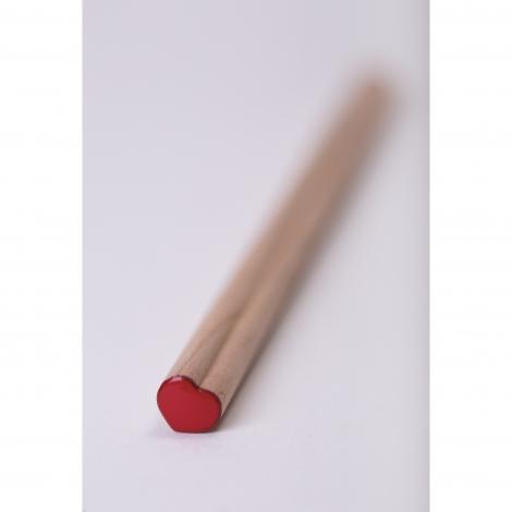 Crayon publicitaire cœur Prestige Naturel sans vernis