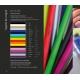 Crayon bois Fluo prestige vernis pantone- 17,6 cm ou 8,7 cm
