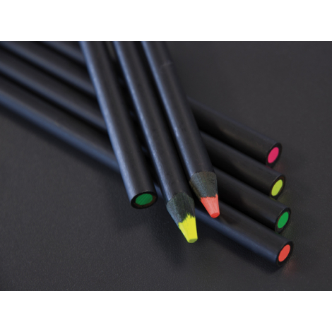 Crayon bois Fluo prestige black - 17,6 cm ou 8,7 cm