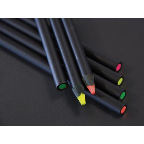 Crayon bois Fluo prestige black - 17,6 cm