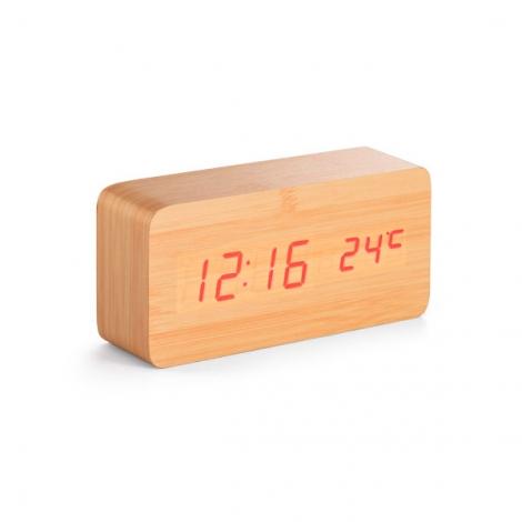 Horloge publicitaire en fibres de bois