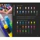 Kit bureau personnalisé règle et crayon fluo - 17,6 cm