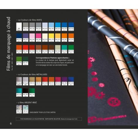 Crayon bi-couleurs vernis pantone à personnaliser