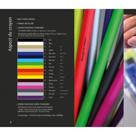 Crayon bi-couleurs vernis pantone à personnaliser.