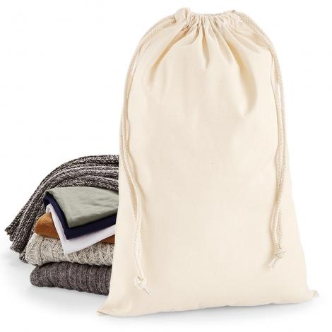Pochette cadeau publicitaire en coton - 200 grs