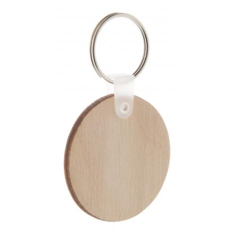 Porte-clés rond en bois - Woody A